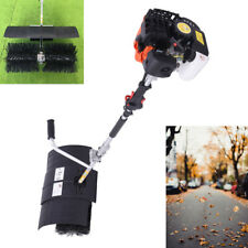 New Listing52cc Gas Power Sweeper Nylon Brush Sweeper Driveway Lawns Handheld Sweeper Clean