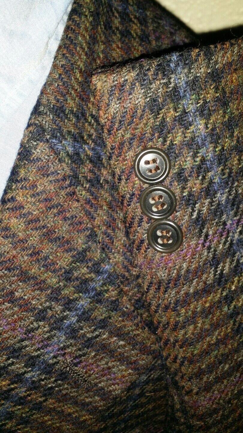 40L Vtg Schottische Wolle Dreist Lila Karomuster Tweed Sport Mantel Blazer   | Neuer Eintrag  | Attraktives Aussehen  | Zu verkaufen