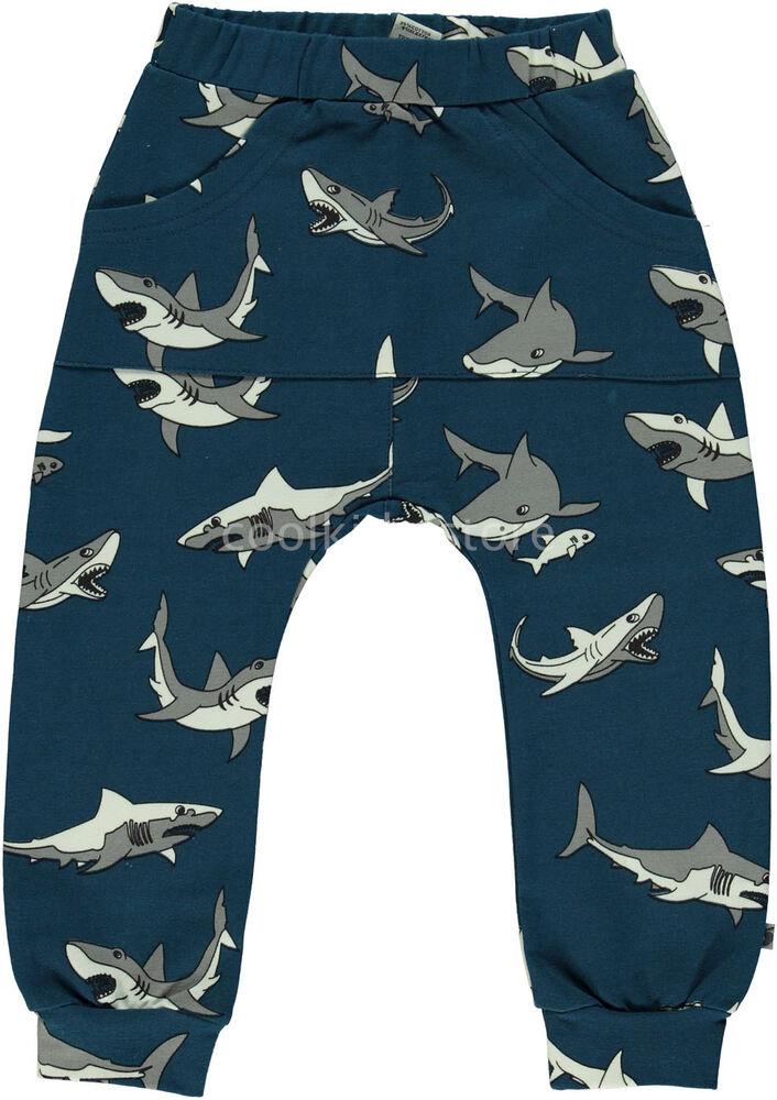Bien éDuqué Smafolk Sweatpants Sweathose Hose Hai Blau Shark 86 92 98 104 110 116 122 128 Apparence Brillante Et Translucide