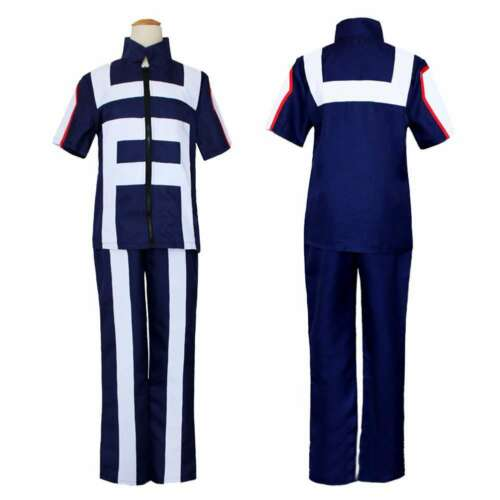 Blue My Hero Academia Boku no Hero Cosplay Costume School Uniform Gym Suit Party