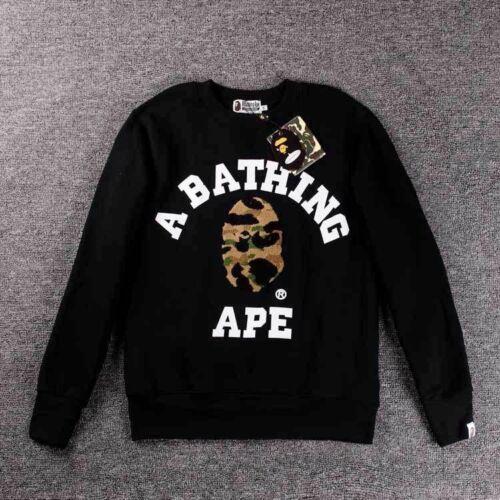 ~ Hommes Unisexe Bathing Ape Bape Singe Head Camo Sweat à capuche Manteau Veste Sweater Shirt