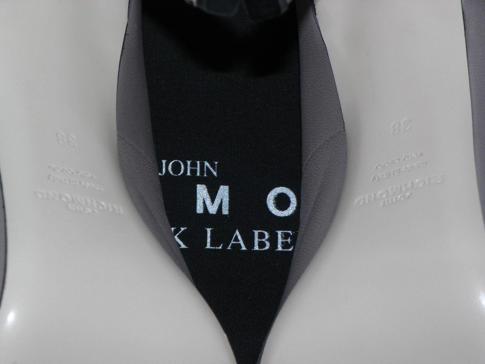JOHN RICHMOND schwarz LABEL PLATED LEATHER CLASSIC damen PUMPS Sz.38 Sz.38 Sz.38 13fdc7