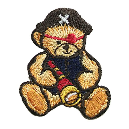 Nautical Sailor Pirate Cute Teddy Bear Embroidery Iron On Patch Applique By Pc