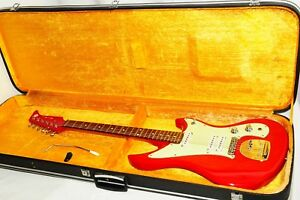 Excellent-Mosrite-SG-2-SG-3-Type-Red-Electric-Guitar-Ref-No-2029