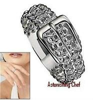 Avon Sterling Silver Buckle Ring Size 6