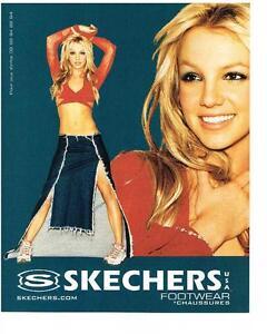 Détails sur PUBLICITE advertising 2000 SKECHERS chaussures BRITNEY SPEARS baskets