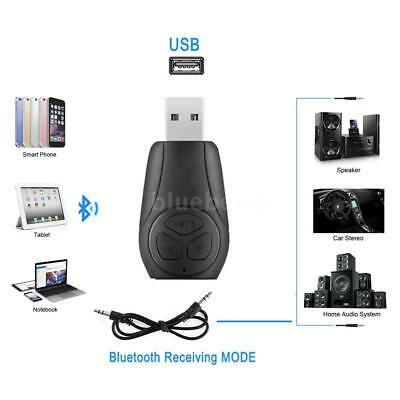 Wireless Bluetooth 4.2 Stereo Audio Receiver USB Adapter F//Home Car Speaker O8N1