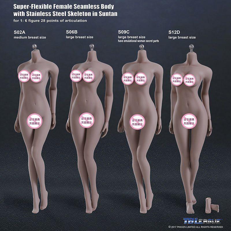 nuevo sádico Tbleague Tbleague Tbleague Phicen 1 6 S02A M Mama de acero sin costura skeleten Bronceado modelo de cuerpo  mejor vendido