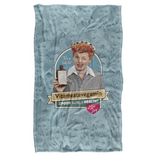 "I LOVE LUCY VITAMEATAVEGAMIN Lightweight Super Soft Fleece Blanket 36/"" x 58/"""
