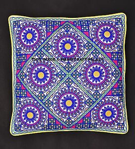 Hand-Embroidered-Cushion-Cover-Indian-Cotton-Pillow-Sham-Decorative-Throw-16-034