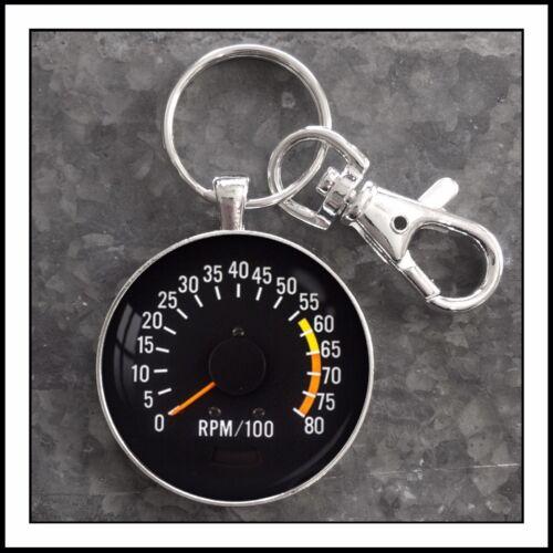 1970-1972 Chevy Camaro tachometer photo keychain pendant charm gift