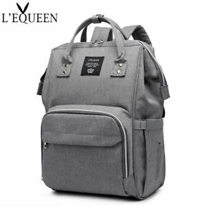 LEQUEEN-Baby-Diaper-Bag-Waterproof-Mummy-Maternity-Nappy-Travel-Backpack-Fashion