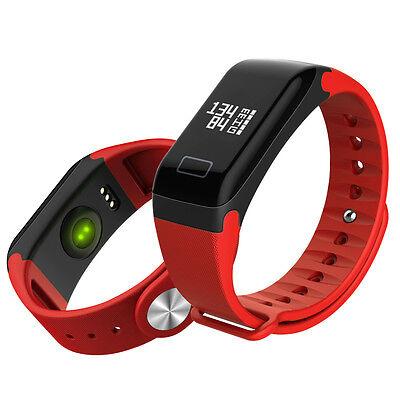 Men&Women Sport Smart Bracelet Watch Bluetooth Clock HeartRate Blood Pressure*F1