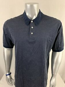 Brooks-Brothers-Men-s-Short-Sleeve-Polo-Shirt-Men-s-Size-L-Blue-100-Cotton-O259