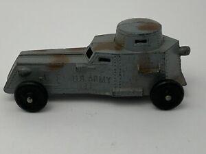 Vintage-Tootsietoy-U-S-Army-temprano-tanque-blindado-Coche-Diecast-Tootsie-Toy-Usa