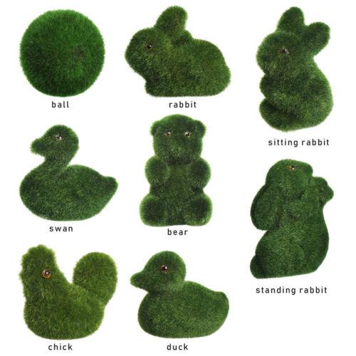 Potted Plant Handmade Room Decor Home Artificial Turf Grass Animal Ornament