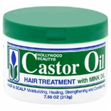 Hollywood Beauty Castor Oil Hair Treatment, with mink 7.5 oz (Pack of 3)