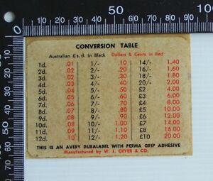 VINTAGE-WJ-CRYER-amp-CO-AUSTRALIA-DECIMAL-CURRENCY-CONVERSION-ADVERTISING-STICKER