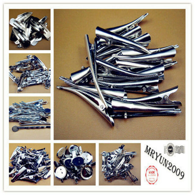 Lot Snap DIY Hair Accessories Head Clips Pins Silver NWT Wholesale resell bulk