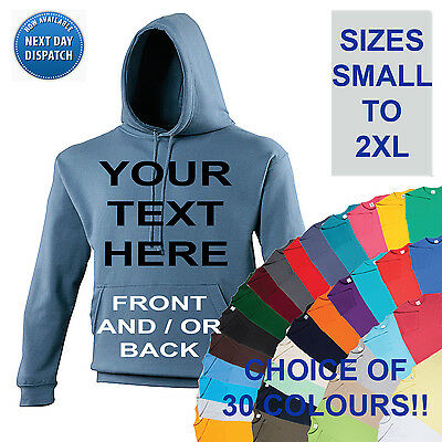CUSTOM PERSONALISED DESIGN YOUR OWN HOODIE STAG HEN HOLIDAY - MENS