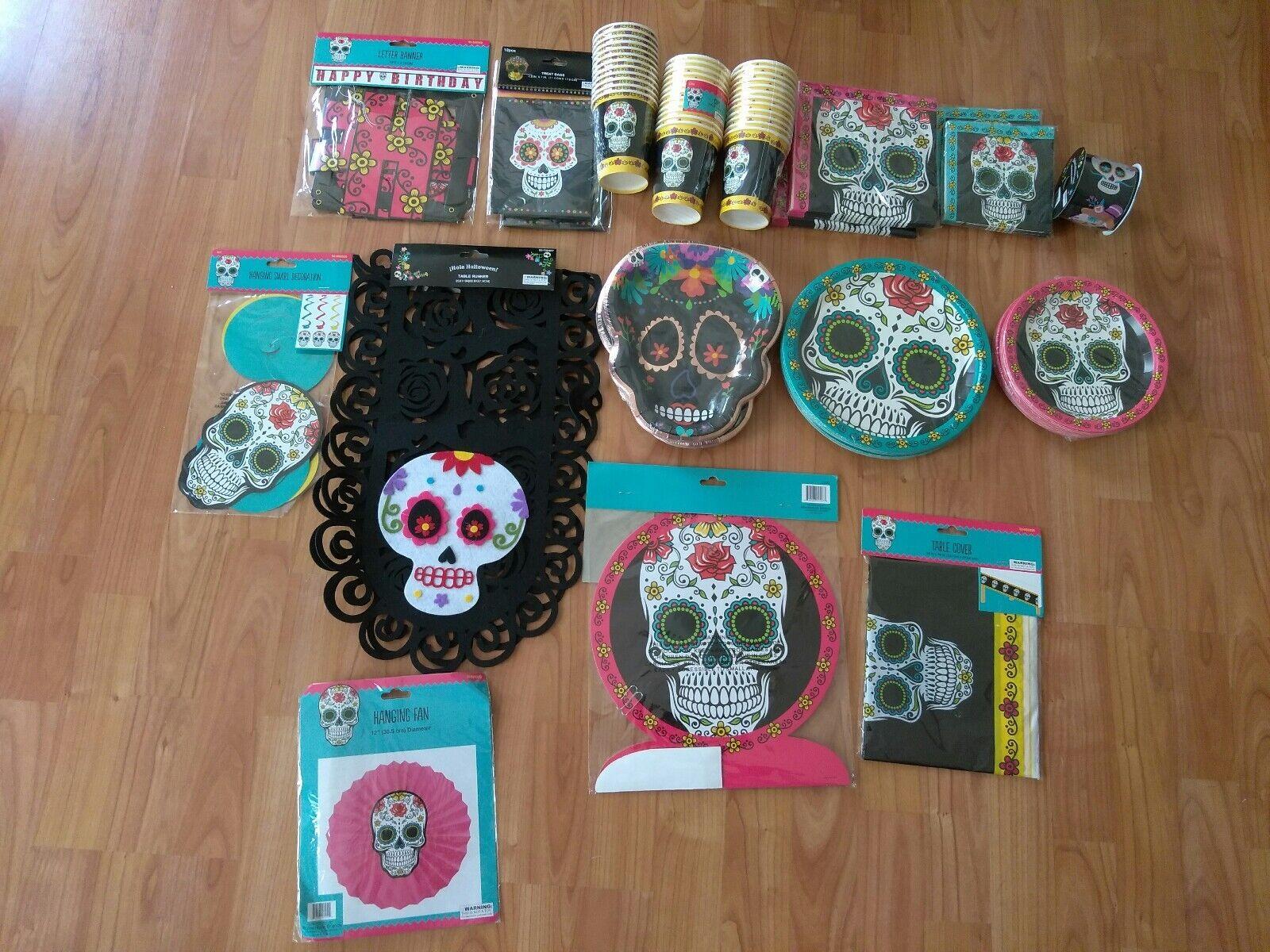 Dia de los Muertos Day of the Dead Dead Dead Birthday Party Supplies Bundle 37f3ef