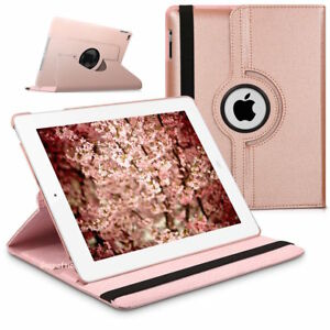 Leather 360 Degree Rotating Smart Stand Case Cover for All iPad Models