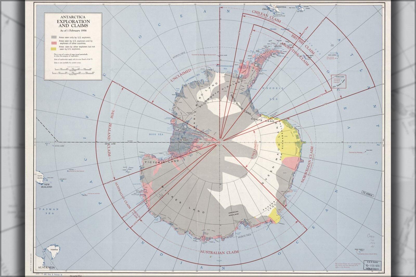 Plakat, Viele Größen; Cia KKunste von Antarctica. 1956