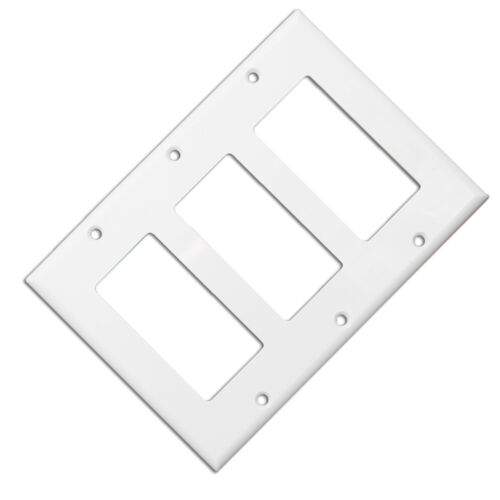 Cable Wholesale Wall Plate Blank Decora White Triple Gang