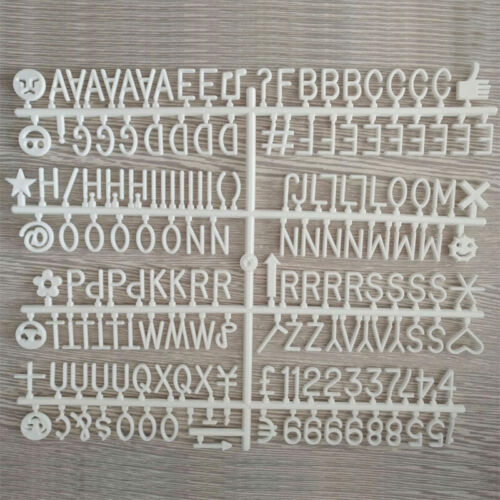 Plastic Letter Characters Numbers Set for Changeable Felt Letter Boards 169 PCS