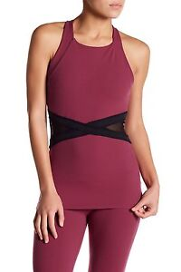 db15826959 NWT $88 Sz. S BEYOND YOGA 'X Marked Mesh Tank' Sports Bra Cami Top ...