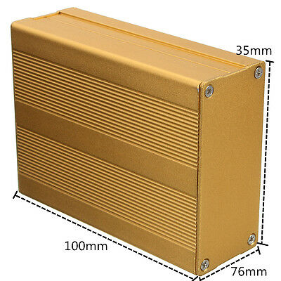 Aluminum PCB Instrument Box Enclosure Electronic Project Case DIY - 100*76*35mm