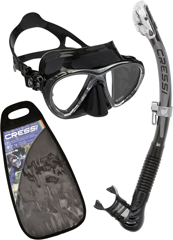 Cressi Schnorchel Set Maske Big Eyes Evolution + Schnorchel Alpha Ultra Dry sw