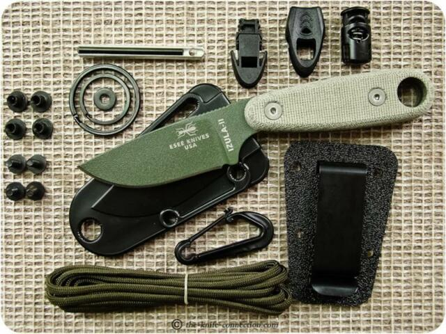 Couteau de Survie ESEE Izula II OD + Kit Carbone 1095 Made In USA ESIZ2ODKIT