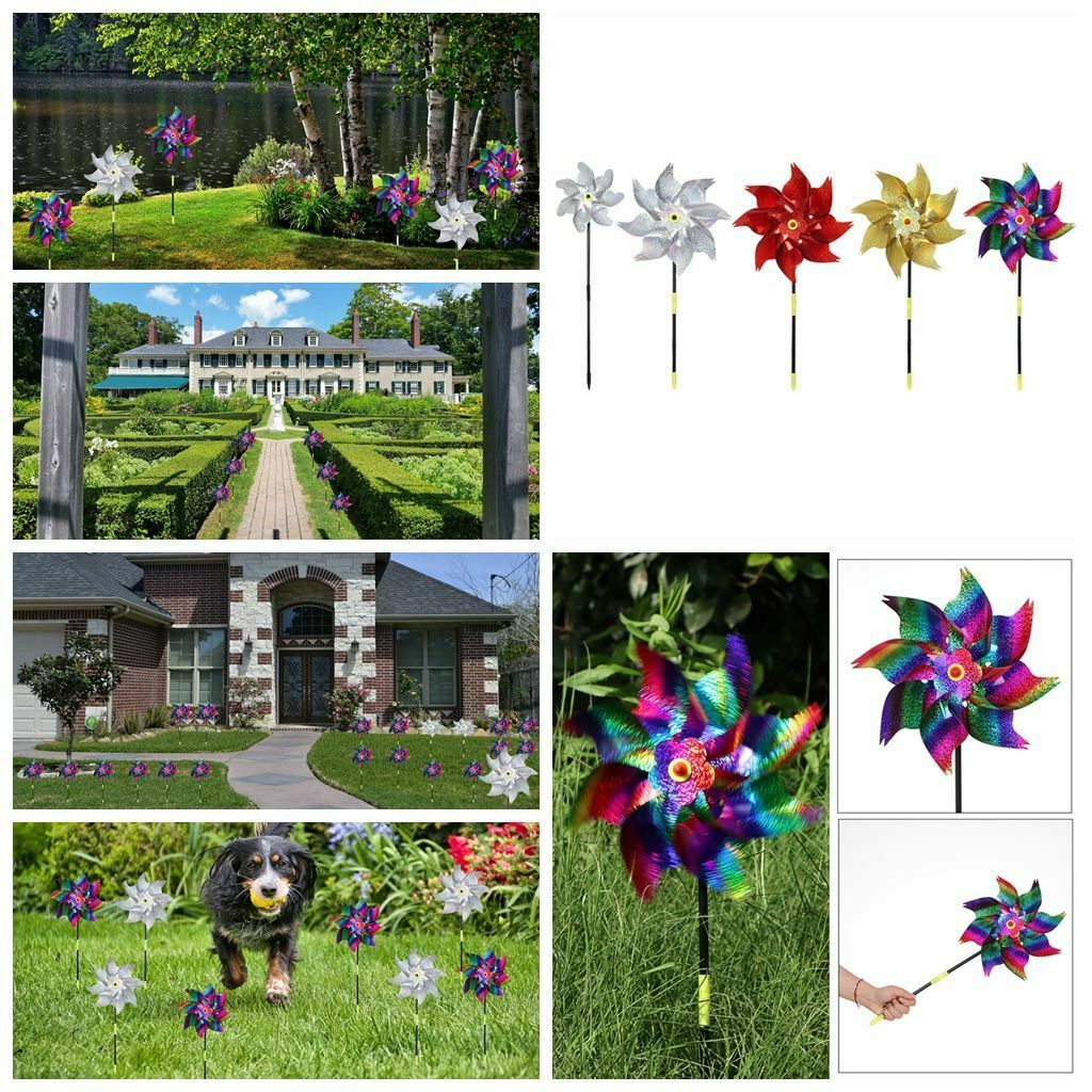 Design Kids Adult Whirl Pinwheels Sparkly Pinwheel Bright Spinners Windmill