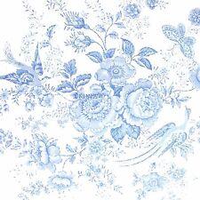 RALPH LAUREN Dauphine KING DUVET COVER NWT Blue White PORCELAIN FLORAL BIRD $355