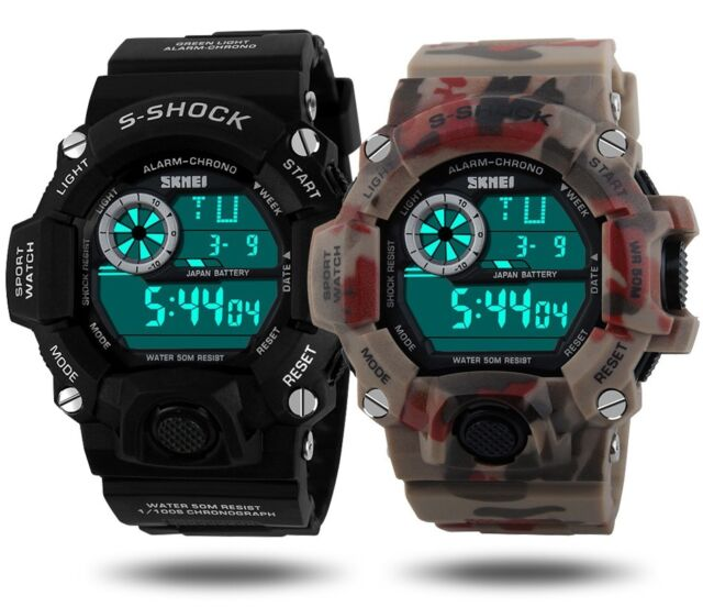 Mens Military Date multi-function Digital Sports Army Anti G Style S SHOCK Watch