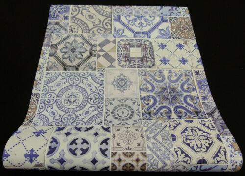 """42506-10-519 moderne Vliestapete Fliesen-Dekor blau /""""Collage/"""""""