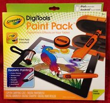 CRAYOLA DigiTools Paint Pack Works W/ iPad/Android Tablets- W/Paint App & Case