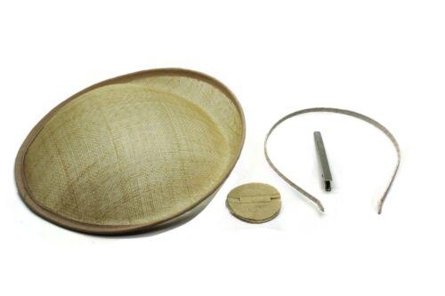 Sinamay Disc DIY Material Craft Making 4 In 1 Set 22cm Round Fascinator Base Set