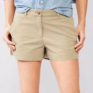 Gap-Women-Basic-Low-rise-100-cotton-Summer-khaki-shorts-Beige