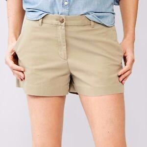 1394a0378f7c Details about Gap Women Basic Low rise 100% cotton Summer khaki shorts Beige