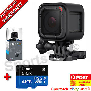 NEW GoPro HERO5 Session Camera 4K  PLUS FREE 64GB LEXAR MICRO SD CARD 818279018127