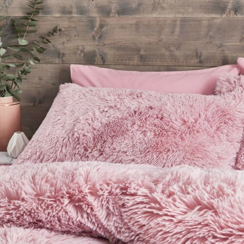 Catherine Lansfield Cuddly Blush Duvet Cover Set Deep Winter Bed Set