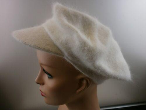 Vintage Damen-Mütze 80/% Angora Gr 56-57 6146 Hu B