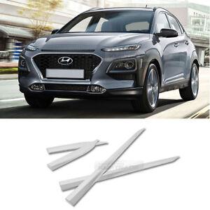 Side-Skirt-Chrome-Side-Door-Garnish-Moldings-Trim-4p-for-Hyundai-2018-2019-KONA