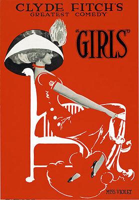 B20 Vintage Girls Burlesque Theatre Poster A1 A2 A3