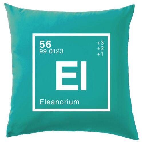 """16/"""" - Ciencia-Nerd-Geek 8 Colores Eleanor periódica elemento-Cojín -"""
