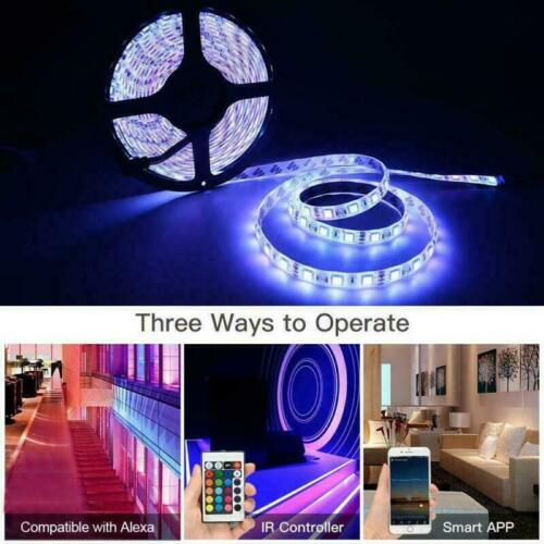 Power Android//IOS Wifi Smart Phone Controller 32.8ft 5050 RGB LED Strip Light