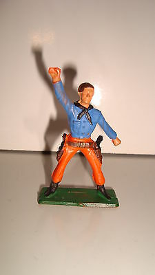 Figurine Figur Starlux Cowboy Far West N°100 (6x4cm) Una Vasta Selezione Di Colori E Disegni