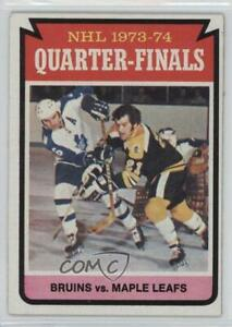 1974-75 Topps Boston Bruins Team Toronto Maple Leafs #211 ... Bruins Roster 1974